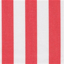 DOCRIL G - BEACH 470 140CM ACRYLIC CANVAS RED & WHITE STRIPES 470